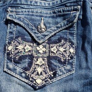MISS ME Jeans Women's Boot Cross Pocket JP5045910